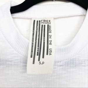 Free People Tops - Free People High Neck white ribbed Long Beach tank